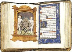 Anne Boleyn's Psalter, circa 1529-1532  The left page bears the Rochford badge, her father's symbol.