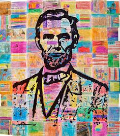 Mod Podge abe lincoln collage