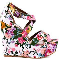 Heels I Love #heels #summer #high_heels #color #love #shoes   Wildflower - White By                      Madeline Girl