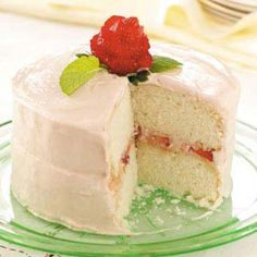 Mom's Favorite White Cake Recipe from Taste of Home -- shared by Tricia Bryan of Bolivar, Ohio