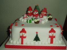 Snowmen christmas cake