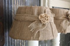 Country Living Fair Burlap Lampshades...
