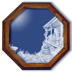 Afternoon Hideaway Country Art Large Octagon Mirror