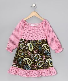 Take a look at this Pink Paisley Pattycake Dress - Toddler & Girls by Beary Basics on #zulily today!
