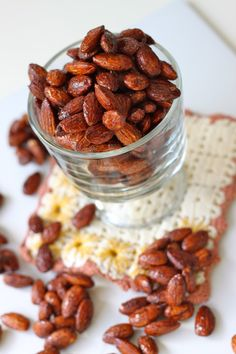 Pumpkin Spice Roasted Almonds. Great fall snack!