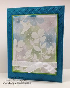 Stamping to Share: Wildflower Meadow on Vellum with a How To Video