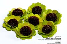 Lime Green Wooden Sunflowers- 24 pcs | AccentsandPetals - Woodworking on ArtFire