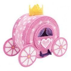 Mary Maxim - Fairy Tale Carriage Plastic Canvas Kit - Plastic Canvas Kits - Plastic Canvas - Crafts