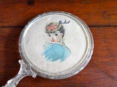 Vintage Lucite Hand Mirror.
