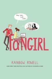 Fangirl by Rainbow Rowell. Gr 9&Up Cath is famous on the Internet for her stories inspired by beloved children's series, Simon Snow (think Harry Potter). She's got thousands of adoring fans online, but it's time to face the real world: she's off to college and she's not sure she's up for the challenge. It's hysterical, endearing, and you won't want it to end.—Alison Tran, Mission Viejo Library, CA #sljbookhook