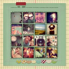 scrapbook layouts, project life, collag, scrapbooking layouts simple