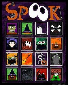 """""""Spook"""" - Halloween bingo"""
