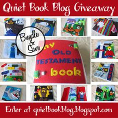 Giveaway on the Quiet Book Blog! Win a complete set of PDF patterns to make your own Bible Stories Quiet Book.