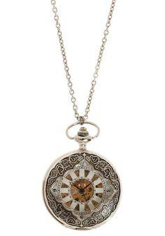 i really love clock necklaces