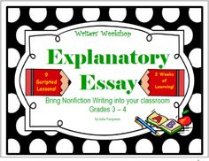 """""""Making Sense of Lucy Calkins"""" Writing an Explanatory Essay; 9 Scripted Lessons from TeacherJuliasResources on TeachersNotebook.com -  (25 pages)  - This is a bundle of lessons that teaches how to write an Explanatory Essay. Use these 9 lessons take your students through the Writing Process with a suggested script for each lesson, suggested mentor texts, and conferencing tips to help guide those write"""