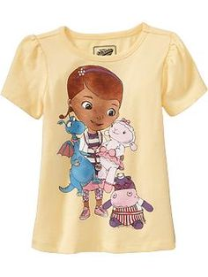 Girls Disney© Doc McStuffins Tees | Old Navy $8.00   I might have to get one for M  @Stefanie Fracasso