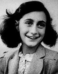 Anne Frank: was one of the most renowned Jewish victims of the Holocaust. Acknowledged for quality of her writing, her diary has become one of the world's most widely read books, chronicaling a short life. 1940 family trapped in Amsterdam by Nazi occupation, went into hiding in secret rooms of her father's office building for 2 yrs, then betrayed and sent to Bergen-Belsen conc camp, where she died of typhus1945. Her father only survivor of the family, returned home, discovered Anne's diary.