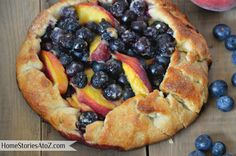 Blueberry & Peach Grilled Pie Recipe {dual gas charcoal grill} #LowesCreator - Home Stories A to Z