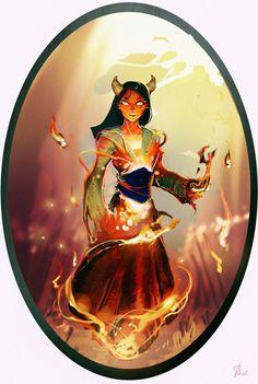 Disney Elementals Mulan by ~CeruleanRaven on deviantART Fire