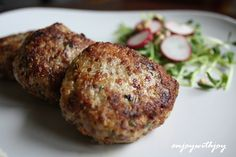 Ground Turkey & Quinoa Patties w/ Yogurt-Tahini Sauce-- we can't wait to put these on the grill!