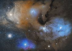 The Colorful Clouds of Rho Ophiuchi