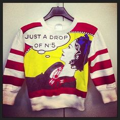 Vintage Chanel Pop Art Sweater