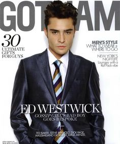 Ed Westwick    If a man can work a shiny suit like this, you know you are onto a winner...