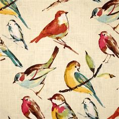 Birdwatcher Meadow Drapery Fabric by Richloom - SW32602 - Fabric By The Yard At Discount Prices