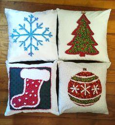 Raggedy Reverse Christmas Pillows