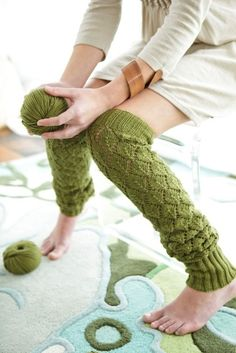 amy butler knit leg warmers :)