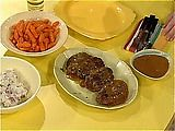 Meatloaf Patties, Smashed Potatoes, and Pan Gravy- the kid's love them!!