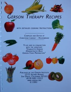 Gerson Therapy Recipe Book