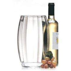With this Iceless Wine Cooler and its double wall insulation, wine stays chilled for hours. The Contours Iceless Wine Cooler by Prodyne keeps chilled wine cool and looks GREAT.