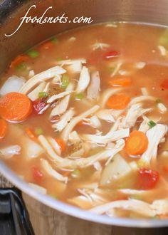 Food Snots: Old-Fashioned Chicken Noodle Soup