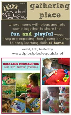 Tot School Gathering Place ~ Week 80  {Dinosaurs, Colors, and Busy Bags}