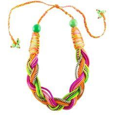 Neon Woven Necklace #r29summerstyle