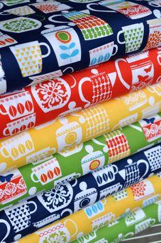 Retro Kitchen fabrics by Michael Miller
