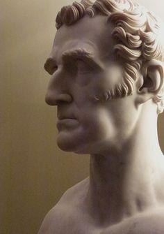 Demo for my sculpture class:  ear, hair, depth of eye, muscles, etc.