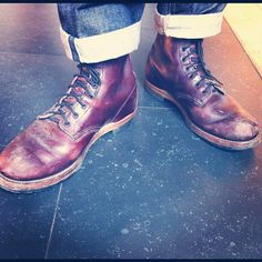 These were my highlight of the day; 9011 Black Cherry Beckman's on Gustav from Sivletto #redwing #redwings #redwingshoes #boots #amsterdam #shoes