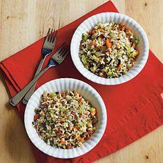RICE-Herbed Brown Rice Pilaf | MyRecipes.com #myplate #grains