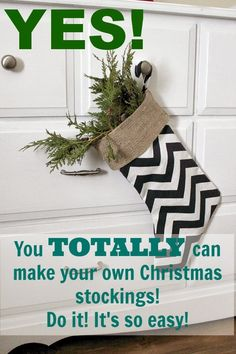 DIY Christmas stockings really are a great beginner's sewing project that will make you feel so accomplished! Full step-by-step tutorial included