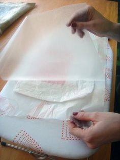 How to fuse plastic grocery bags to make awesome fabric for crafts.