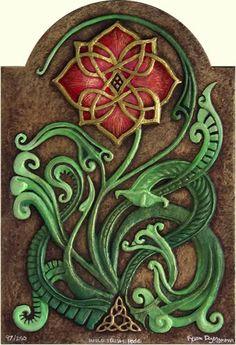 wild irish, tattoo ideas, celtic art, irish rose, irish jewelry, rose tattoos, art flowers, celtic tattoos, art nouveau