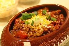 Easy Sausage Chili for the Super Bowl!