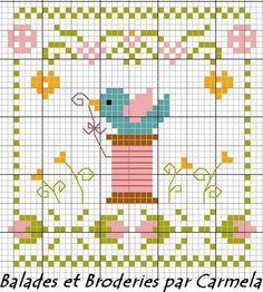 Cute bird  spool design.