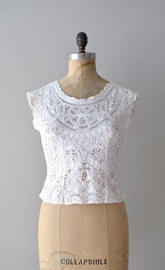 vintage 1950s Battenburg lace blouse     #vintage #lace #vintagelace #1950s