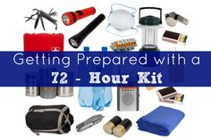 72 Hour Kit - Getting Prepared - Five Little Homesteaders