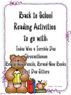 Back to School Reading Activities