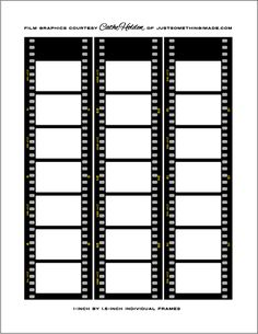 Film printable for movie party