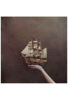 hand, sailboats, dream, wooden boats, sailing ships, art, sail boats, sea, sail away